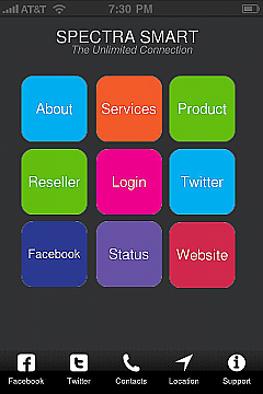 Ibuildapp create android and iphone app spectra smart app templates pronofoot35fo Images